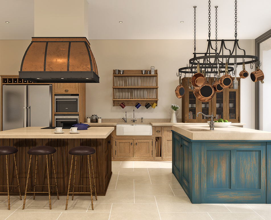 Distressed Island Kitchen CGI 01