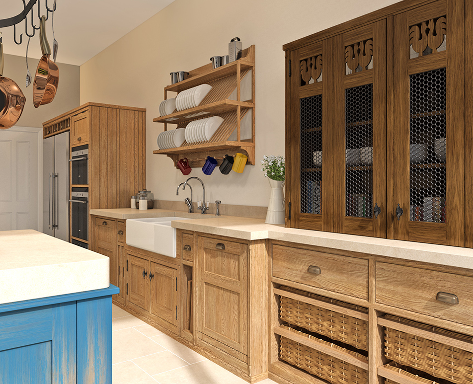 Distressed Island Kitchen CGI 02