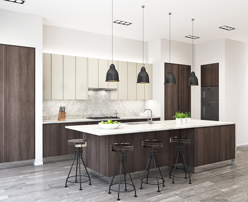 Modern Handle-less Kitchen CGI 02